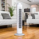 Cecotec Ventilador de Torre ForceSilence 8090 Skyline. 33'' (84cm) de Altura, Oscilante, Motor de...