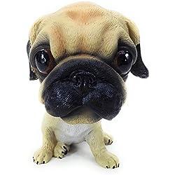 Bobbing cabeza perro carlino Bobble Head Auto Car Dashboard decorativos, juguete juegos de Bulldog de adornos de Navidad