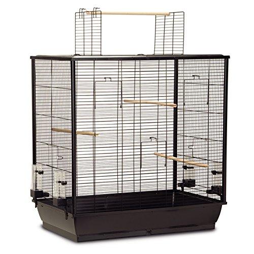 Vogelkäfig extra groß XXL 'FIONA Open' 70x40x80 cm schwarz