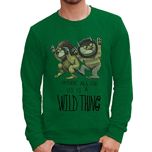 MUSH Sweatshirt Wo Die Wilden Kerle Wohnen - Film by Dress Your Style - Herren-XL-Grün