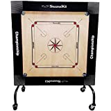 Suzuki Carrom Board with Wheel Championship Model (Black Border)