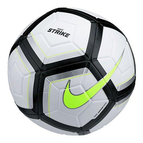 Nike Unisex - Erwachsene NK Strk Team Ball,Mehrfarbig (weiß/silber/schwarz/Volt), 5