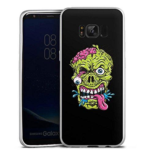 DeinDesign Samsung Galaxy S8 Silikon Hülle Silber Case Schutzhülle Zombie Halloween (Scary Halloween Zombies)