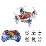 Mini Drone,Cellstar Mini UFO Quadricottero Drone 2.4G 4CH 6 Axis con 3D Flips, Quadricottero con Tasto Unico per Atterraggio & Decollo, Altitudine Fissa Intelligente Funzioni CX-10D (Multicolore) immagine