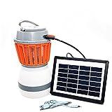 Linda N. Taylor Camping Laterne Mosquito Zapper, solarbetriebene LED Camping Licht, Mückenschutz USB Mosquito Killer für Innen-Lampe für Den Außenbereich, Solar Energy, 5.7 * 3.5 * 3.5 inch