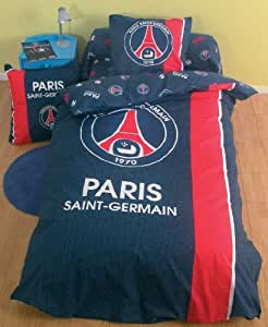 Housse de couette PSG - Football - PARIS SAINT GERMAIN - Taille 200 x 200cm - Lit 2 places