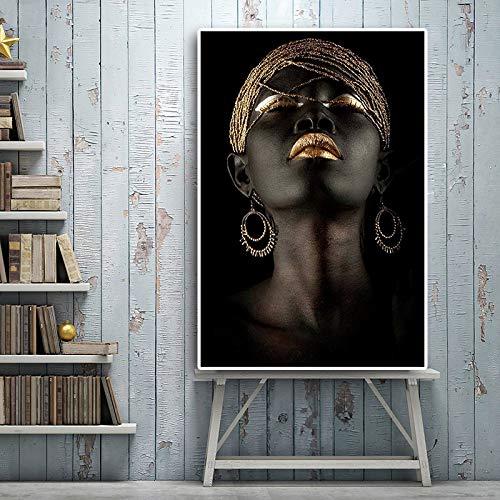 haotong11 Modulare Leinwand HD Drucke Poster 1 Panel Schwarzafrikanische Nackte Frau Fotos Wandkunst Gemälde Dekoration Für Wohnzimmer 40x55 cm -
