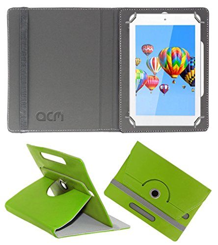 Acm Rotating 360° Leather Flip Case for Digiflip Pro Et701 Tab Cover Stand Green  available at amazon for Rs.149