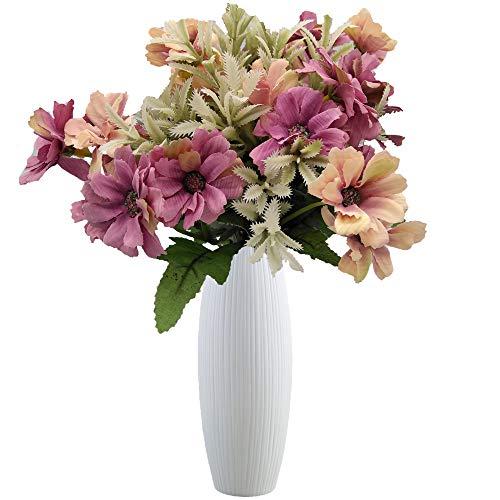 Live with Love 2 ramos flores cosmos 1 jarrón cerámica