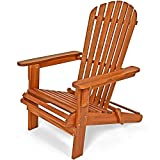 Adirondack Garden Lounger Chair Patio Deckchair Wooden Acacia Wood Armchair Perfect Outdoor Terrace Recliner