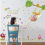 YUYU DIY wohnkultur schaukel Mädchen Wandaufkleber für kinderzimmer Kindergarten Schlafzimmer dekorative abziehbilder vinilos infantiles