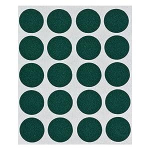 haggiy® Flock-Filz in grün, 0,35 mm Stärke, Durchm. 22 mm, 1 Streifen a' 16 Pads, selbstklebend
