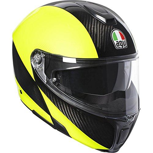 AGV Sports Modular Hi Vis Flo Amarillo Motocicleta Casco