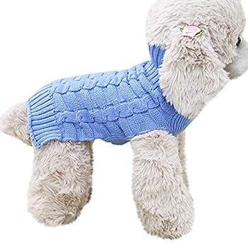 Chiens Chemises,Manteau De Costume De Manteau De Manteau Chaud d'hiver De Chat De Chien d'hiver,Chiens Textiles et Accessoires (S, Bleu Ciel)