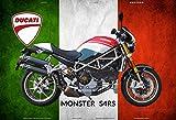 Ducati Monster S4Rs Italien motorrad, motorcycle, motorbike schild aus blech, metal sign, tin