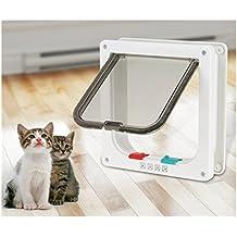 chatière para gato, puerta de gato inteligente chatière con cerradura con 4 modos de cierre