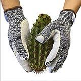 GXQ Gartenarbeit Stichfeste Handschuhe Schnittfeste Verstärkung Verschleißfeste Flexibilität Garten-Zierschutz Lüftung Konstruktion Holzbearbeitungsgarten