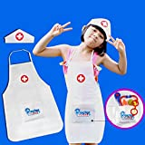 Jouets pour enfants Noël Cadeau Le tablier d'infirmière de costume de rôle d'enfants et le chapeau d'infirmière mettent en jeu le jeu d'infirmière pour des enfants