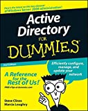 Active Directory For Dummies Whether you're new to Active Directory (AD) or a savvy system administrator looking to brush up on your skills, this title steers you in the right direction. It helps you to understand the basics of AD and utilize its str...