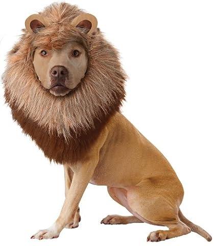 Animal Planet Lion Costume Costume pour chien Crinière en peluche Bandeau perruque cheveux oreilles King