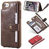 Cozy Hut Handyhülle iPhone 6 6S Hülle [ 2 in 1 ] [Premium Leder] [Standfunktion] [Kartenfach] [Magnetverschluss] Schlanke Leder Brieftasche für iPhone 6 6S - Premium Coffee