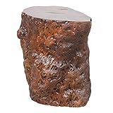 LEBENSwohnART Hocker Beistelltisch Longan Red Longan-Holz Massivholz Hotzklotz Baumstamm