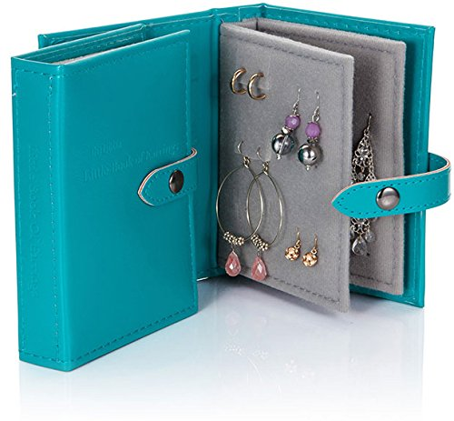 Little Little Book of Earrings - Small Size - Teal Blue