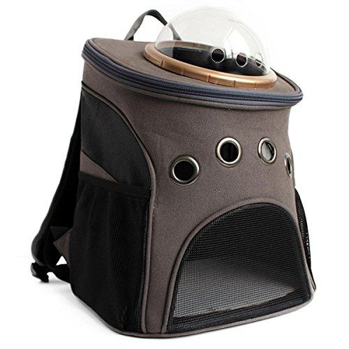 SHKY Canotta astronauta cane gatto zaino trasparente traspirante piccola borsa a mano delle spalle dell'animale domestico per il viaggio escursioni a campeggio , A C