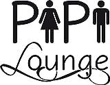 GRAZDesign 650249_30_070 Tür-Beschriftung Pipi Lounge für WC   Toiletten-Aufkleber für WC   für Toiletten Türen (39x30cm//070 schwarz)