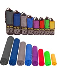 Mikrofaser Handtücher in ALLEN Größen / 12 Farben – klein, leicht und ultra saugfähig - das perfekte Sporthandtuch, Reisehandtuch, Microfaser-Badetuch, XXL Strandhandtuch, Sauna Microfaser Handtuch groß