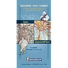 Pack 2 cartes hier/aujourd'hui Bayonne - Pau - Tarbes Michelin