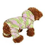 Vetement Chien/Chat Angelof Manteau Jacket A Capuche Camouflage Chiot Chaud, Habits Chihuahua Pour Petit Chien Pull Chien Hiver (Vert, L)