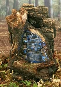 petite fontaine d 39 ext rieur arbre et pierre d 39 automne avec eclairage led jardin. Black Bedroom Furniture Sets. Home Design Ideas
