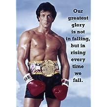 Rocky Balboa 9–motivación–de boxeo–greatest glory cita–A3Póster