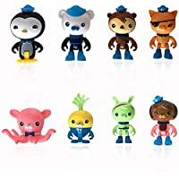 ‏‪8PCS Mini Octonauts Cake Toppers Octonauts Figures Birthday Cake Topper Cupcake Topper Octonauts Cake Decoration for Kids Birthday Baby Shower Octonauts Theme Party‬‏