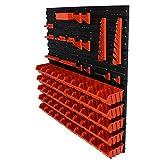 71 tlg. Werkzeugwand Wandregal Regal 4 Platten + 50 Stapelboxen Gr. 1 + Halterung #1 & #2 Box Werkstatt Lagerregal ( 8 - 71 tlg. Regale )