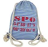 Sonia Originelli City Rucksack St. Peter Ording Tasche Bag Gymbag Maritim Farbe Blau-Rot