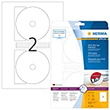 Herma 4699 DVD Blu-ray Etiketten (Ø 116 mm) 50 Stück, 25 DIN A4 Laser-Spezialfolie matt