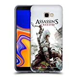 Head Case Designs Ufficiale Assassin's Creed Connor Ascia III Arte Chiave Cover Morbida in Gel per Samsung Galaxy J4+ / Plus