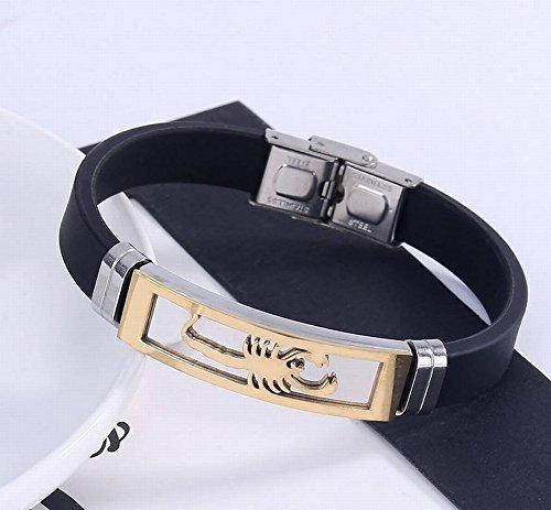 Persönlichkeit Kreative Skorpion Ring Armband Mode Sport Edelstahl Silikon Armband Armband , Gold