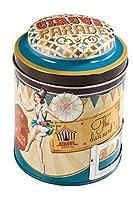 NATIVES 511720 Circus Parade-funambule Boîte à Thé Vrac Métal Multicolore 9 x 9 x 11,5 cm