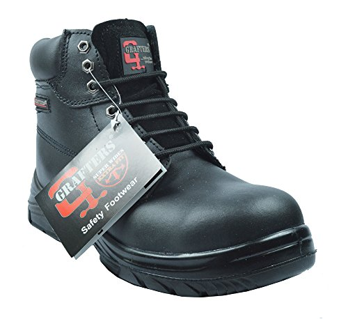 Grafters Extra Extra Wide (4E Fitting) Work Boot with Steel Toe Cap...