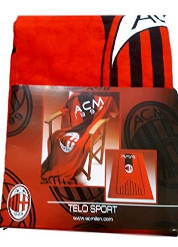 A.c. milan telo mare asciugamano sport prodotto ufficiale cm 100x180