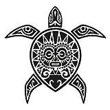 selbstklebender Sticker Schildkröte Tiki, weiß, 17 cm
