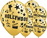 Gold Hollywood Theme 12 Inch Latex Balloons