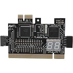 Zerone Carte mère PCI Express Noir, PCI/PCIE/Mini PCIE/LPC PC Carte mère Post PCI Diagnostic Analyzer Carte Test