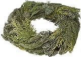 Corona navideña de hojas naturales