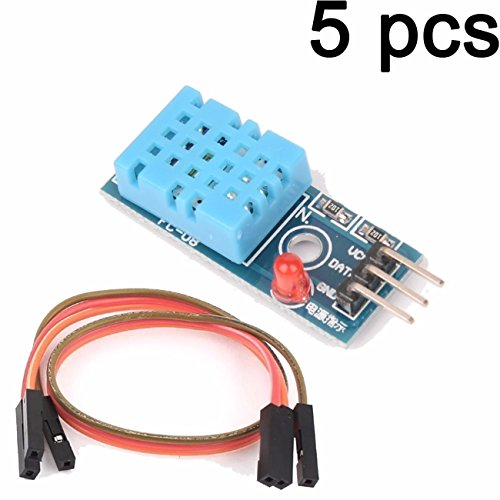 LIUXINDA-MK Sehr praktisch 5 pcs DHT 11 Temperatur und relative Feuchte Sensor Modul für Arduino -