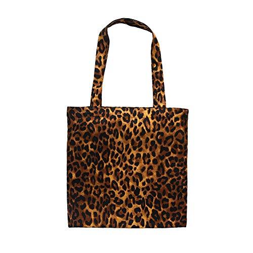 gaeruite Frauen-Schulter-Beutel, modische Leopard-Druck-Segeltuch-Tasche große Kapazität Handtaschen (Leopard-druck Schulter Tasche)