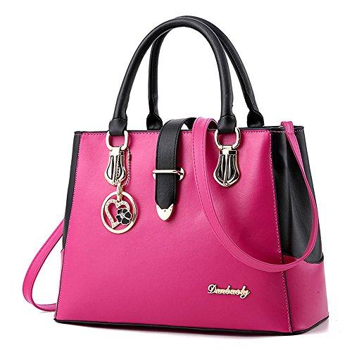 IMBETTUY neue schwarze und weiße Mode-Stil Handtasche lässig Umhängetasche Querkörperarbeit Taschengeldbeutel für Damen (Shopper Damen Lässig Handtasche)